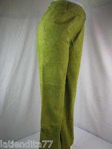 Womens J. G. Hook Green Leather Pants Sz.10 NWT