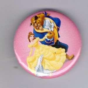 Button Pin Badge Disney Beauty And The Beast Dancing