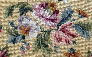 Antique Needlepoint & Petit Point of Pretty Flowers