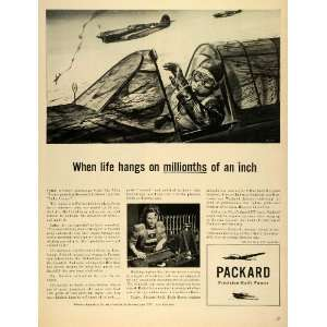 1943 Ad Packard Motor Co Rolls Royce Engines WW2 Fighter