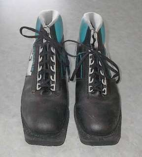 set of 3 pin 75 mm cross country ski boots. These boots are a size