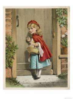 Little Red Riding Hood Knocks at Her Grandmothers Door Giclee Print