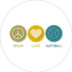 Peace Love Softball Keychains Toys & Games