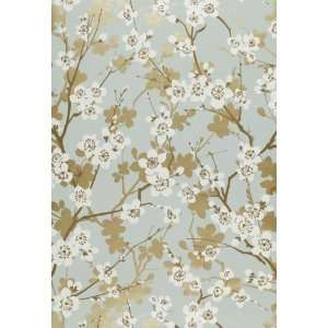 Ming Cherry Blossom Aqua by F Schumacher Wallpaper Home