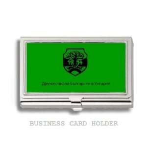 Bulgarian Hungarian Flag Business Card Holder Case