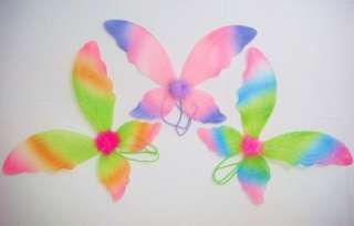 Princess Costumes Fairy Wings Halo Tutu Wands 4p Sets