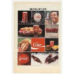 1978 Coke Coca Cola Signs of Life Can Bottle Food Print Ad