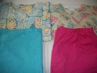 Medical Dental Vet Scrubs Lot 8 Pattern Outfits Sets Size XLARGE XL