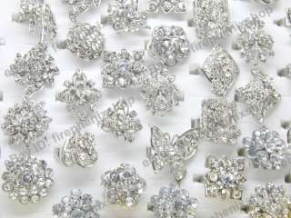 wholesale lots jewellery store10 silver tone clear crystal & metal