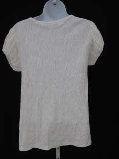 CARLOS MIELE White Short Sleeve Shirt Top Sz XS