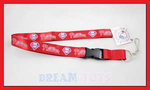 MLB Philadelphia Phillies Lanyard Key Chain / Baseball