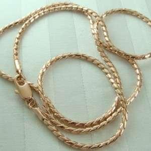 14K 14CT Rose Gold Filled Ladies Elegant Chain Necklace N59