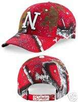 Nebraska GameDay Camo Hat Huskers Mothwing Football Cap