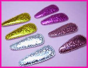 Padded Shiny Hair Clip Cover/Bow Appliques x 120   Mix
