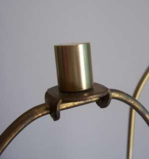 Brushed Brass LAUREL LAMP & SHADE 1960s Eames Era Mid Century Danish