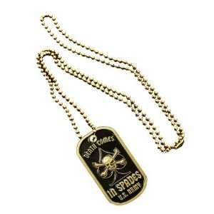 Metal Military Dog Tag Luggage Tag Key Chain Metal Chain Necklace Pet