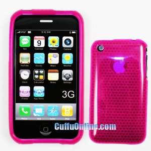 Cuffu   Hot Pink   crystal SKIN cover for Apple iPhone / iPhone 3G