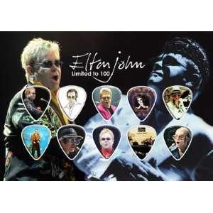 Elton John Guitar Pick Display Limited 100 Only