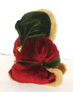 The Boyds Christmas Teddy Bear with Robe and Bell