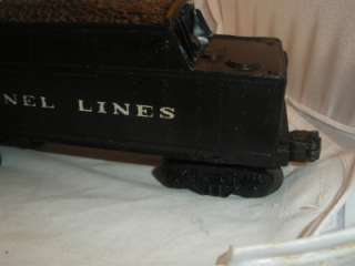 VINTAGE LIONEL LINES O SCALE GUAGE TOY TRAIN COAL TENDER BLACK