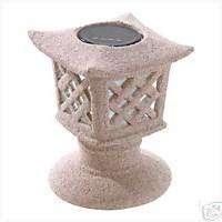 Ceramic Outdoor Solar Pagoda Light Patio Porch