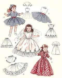 VINTAGE 19 TONI, MISS CURITY DOLL CLOTHES PATTERN 6759