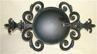 Vintage Large Wall Candle Sconces Wrought Iron Metal Reflective Mirror