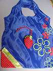 Eco Friendly Nylon Tote Reuse Strawberry Bags blue