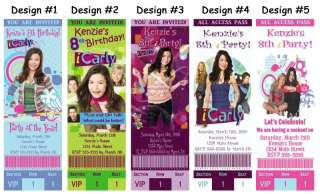 iCarly ~ Birthday Party Ticket Invitations, Supplies, and Favors