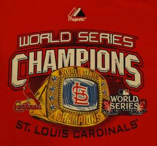 St. Louis Cardinals 2011 World Series Champions Crew Neck Sweatshirt M