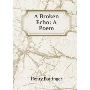 A Broken Echo A Poem Henry Pottinger Books