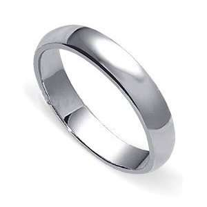 Polished Sterling Silver 4mm wide Wedding Band Ring Size 12 Jewelry
