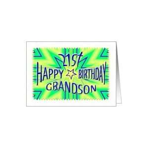 Grandson 21st Birthday Starburst Spectacular Card: Toys & Games
