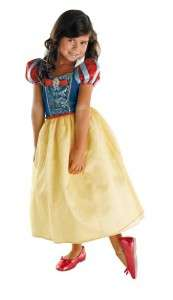 GIRLS DISNEY PRINCESS SNOW WHITE COSTUME DRESS DG50489
