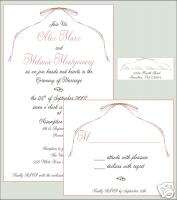 Wedding Bridal Baby Shower Invitations RSVP Reply Cards