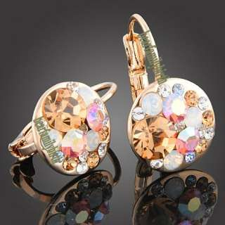 18K rose gold Gp Swarovski Crystal mickey jewelry set 875