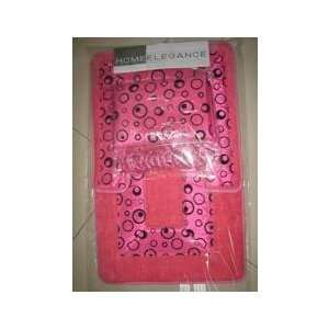 COSMO HOT PINK JACQUARD FABRIC SHOWER CURTAIN, FABRIC