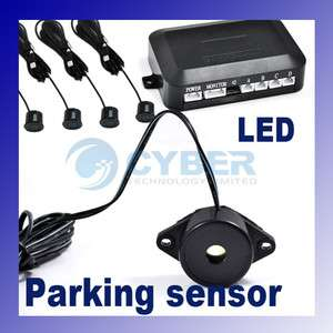 Car Parking Reverse Backup Radar 4 Sensor System Alarm