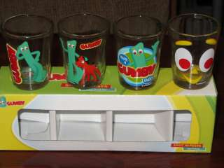 Cartoon Character 1.5 Ounce Collectible Shot Glasses Set Of 4 NEW