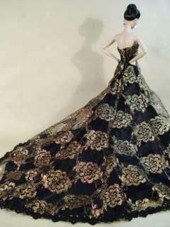 Candi Silkstone Barbie Fashion Royalty Black Dress Gown