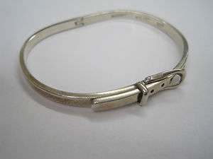 Mexican Sterling Silver Belt Bangle Bracelet 15.8 gram