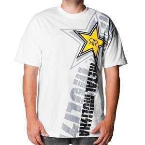Metal Mulisha Rockstar Ego T Shirt   X Large/White Automotive