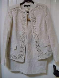 KLEIN Elegant Classy Embellished Women Cocktail Skirt Suit 8