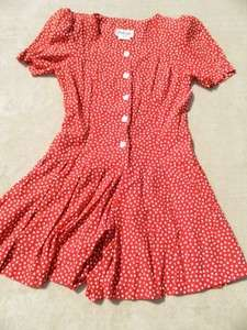 BYER TOO RED POLKA DOT SKORTS DRESS JUNIORS SIZE 9; EUC