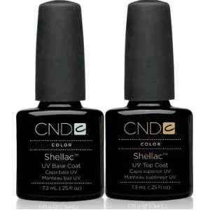 CND Shellac Top .25oz and Base .25oz Set of 2 High Quality Products