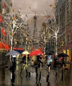 Oil painting thick textured canvas art living room paintings wall