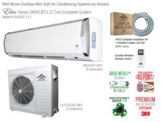 Amvent 24000 BTU Ductless Mini Split Air Conditioning System ***FREE