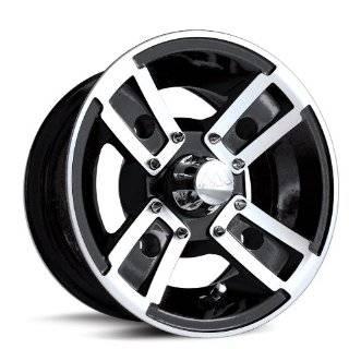 MotoSport Alloys S3 Redline Black Machined 10x5   Inch Wheel