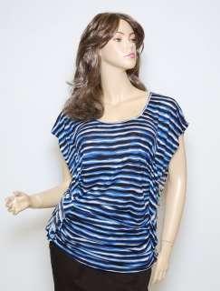 NWT MICHAEL KORS BLOUSE SHIRT TUNIC DRESS ~BLUE *L