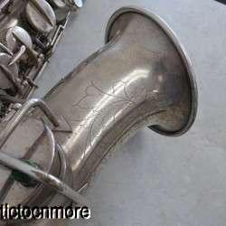 VINTAGE 1926 MARTIN HANDCRAFT LOW PITCH ALTO SILVER PLATE SAXOPHONE